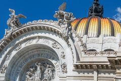 Bellas Artes Palace of fine art in Mexico City Stock Images