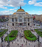 Bellas Artes Palace of fine art in Mexico City Stock Photos