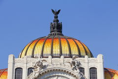 Bellas artes palace II. Detail of the facade of the bellas artes palace located in mexico city Royalty Free Stock Image