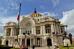 Bellas Artes palace at Mexico city. Royalty Free Stock Images
