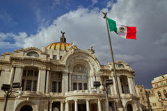 Bellas Artes palace at Mexico city. Royalty Free Stock Photos
