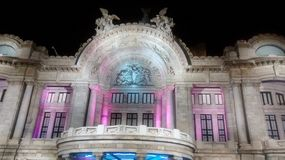 Bellas Artes przy nocą Zdjęcia Royalty Free