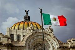 Bellas Artes slott på Mexico - stad fotografering för bildbyråer