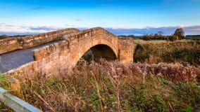 Bellasis most nad Rzecznym Blyth obraz royalty free