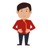Bellboy character hotel service icon. Illustration design royalty free illustration