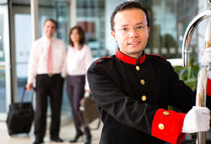 Bellboy dell'hotel Immagine Stock