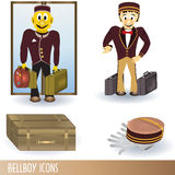 Bellboy icons Royalty Free Stock Photo