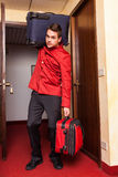 Bellboy with Luggages Royalty Free Stock Photo