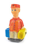 Bellboy toy with luggages stock photos