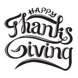 Belle écriture de lettrage de thanksgiving heureux pour des cartes postales, des bannières d'affiches, des souvenirs, des T-shirt illustration de vecteur