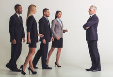 Belle équipe d'affaires Image libre de droits