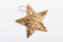 Belle étoile d'écorce de bouleau illustration stock