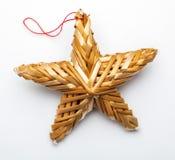 Belle étoile faite à partir des fibres végétales illustration stock