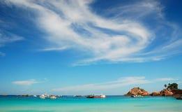Belle île image libre de droits