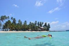 Belle île d'archipel de San Blas, ¡ de Panamà photographie stock libre de droits