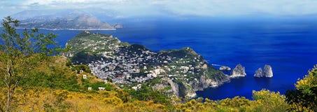 Belle île de l'Italie - du Capri photo libre de droits