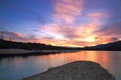 Belle île de suSmall dans le lac Images libres de droits