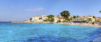 Belle île grecque, Spetses image libre de droits