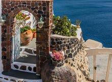 Belle île Santorini Images libres de droits
