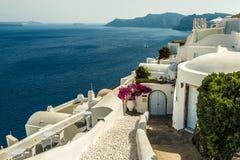 Belle île Santorini Image libre de droits