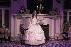 Belle (迪斯尼)公主不可思议的王国-秀丽和野兽 免版税库存照片