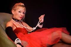 Belle actrice comme Madame Photos libres de droits