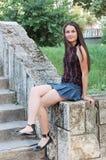 Belle adolescente Images stock