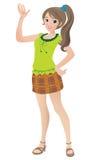 Belle adolescente avec une queue de cheval Illustration Stock