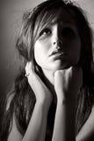 Belle adolescente recherchant Images libres de droits