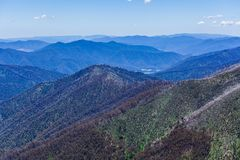 Belle alpi australiane, Victoria, Australia Fotografie Stock