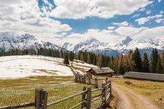 Belle alpi come visto dall'alpe di Wiesener Immagini Stock