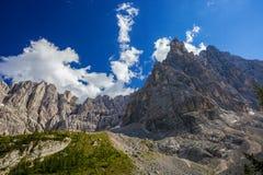Belle alpi della dolomia Fotografia Stock