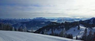 Belle alpi di Europa Fotografia Stock