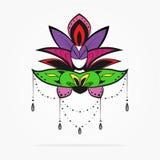 Belle amulette décorative abstraite Photo stock