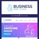 Belle analyse de marque de concept d'affaires, chimie, flacon illustration libre de droits