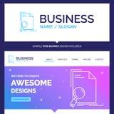 Belle analyse de marque de concept d'affaires, document, dossier illustration stock