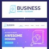 Belle analyse de marque de concept d'affaires, données, financières illustration de vecteur