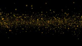 Belle animation pilotant les particules de clignotement de scintillement brillant sur un canal alpha noir de fond banque de vidéos