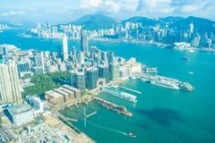 Belle architecture établissant le paysage urbain extérieur de Hong Kong photo libre de droits