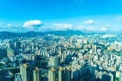 Belle architecture établissant le paysage urbain extérieur de Hong Kong image stock