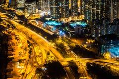 Belle architecture établissant le paysage urbain extérieur de Hong Kong photos stock