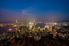 Belle architecture établissant le paysage urbain extérieur de Hong Kong photos libres de droits
