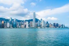 Belle architecture établissant le paysage urbain extérieur de Hong Kong images stock