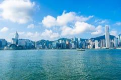 Belle architecture établissant le paysage urbain extérieur de Hong Kong photographie stock