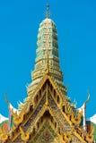 Belle architecture asiatique de style Toit largement décoré et Photographie stock libre de droits
