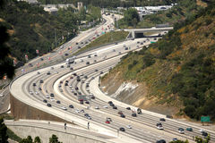 Belle architecture d'autoroute de la Californie Images libres de droits