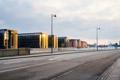 Belle architecture de Copenhague au coucher du soleil denmark Architecture image libre de droits