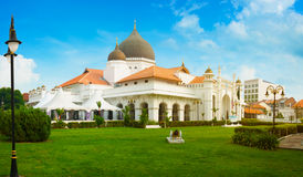 Belle architecture de mosquée de Kapitan Keling à Georgetown, P Photographie stock libre de droits