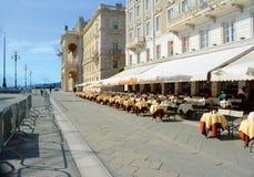 Belle architecture et bâtiments de Trieste Photos stock