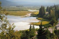 Belle attraction de bord de la route près de parc national de Banff image stock